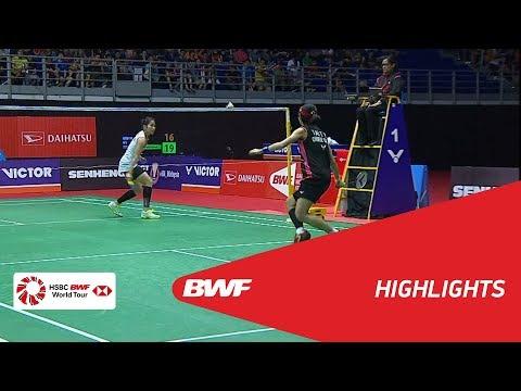 WS | TAI Tzu Ying (TPE) [1] vs Ratchanok INTANON (THA) [5] | BWF 2018