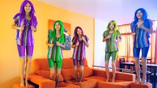 Colors with Five Little Babies Jumping On The Bed Good Song for kids