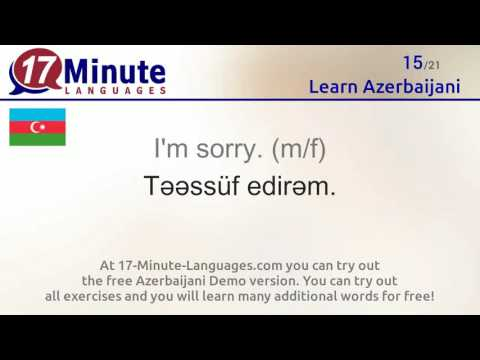 Learn Azerbaijani (free language course video)