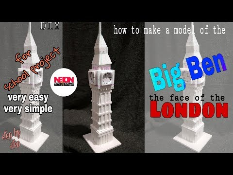 How To Make A Big Ben Model// With Thermocol// For School Project