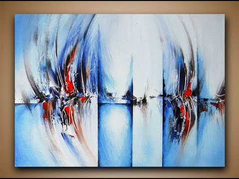 Abstract Painting DEMO 20 / Easy abstract art / How to paint ...