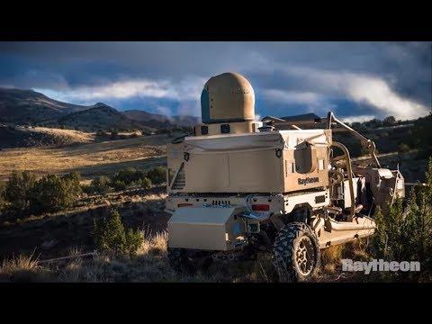 Raytheon CUAS Laser Dune Buggy vs. Drone