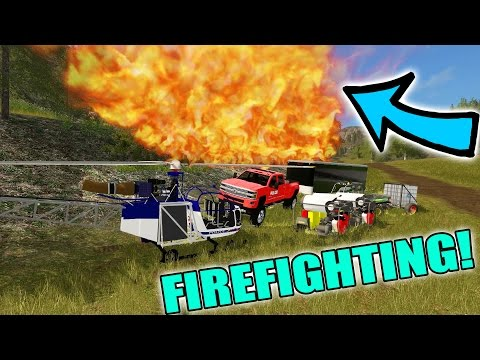FARMING SIMULATOR 2017 | MOUNTAIN FIREFIGHTING | LIVE STREAM | MULTIPLAYER | 911 RESCUE