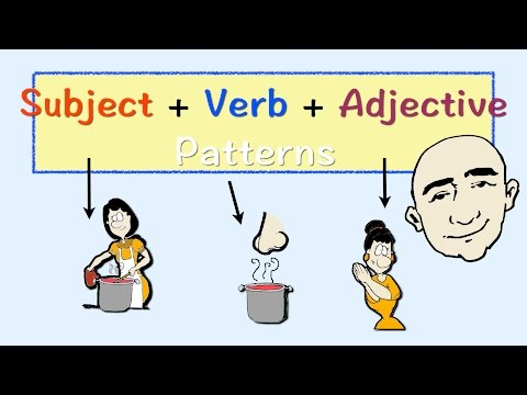 Subject + Verb + Adjective Patterns | English Speaking Practice | ESL | EFL