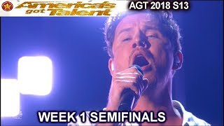 "Michael Ketterer ""When I Look At You"" SIMON Asks Garth Brooks Semifinals America's Got Talent 2018"