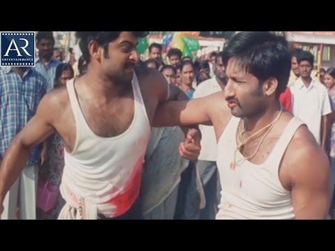 Varsham Movie Scenes | Prabhas and Gopichand Everseen Best Fight | AR Entertainments thumbnail