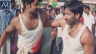 Varsham Telugu Movie Scenes | Prabhas and Gopichand Everseen Best Fight | AR Entertainments