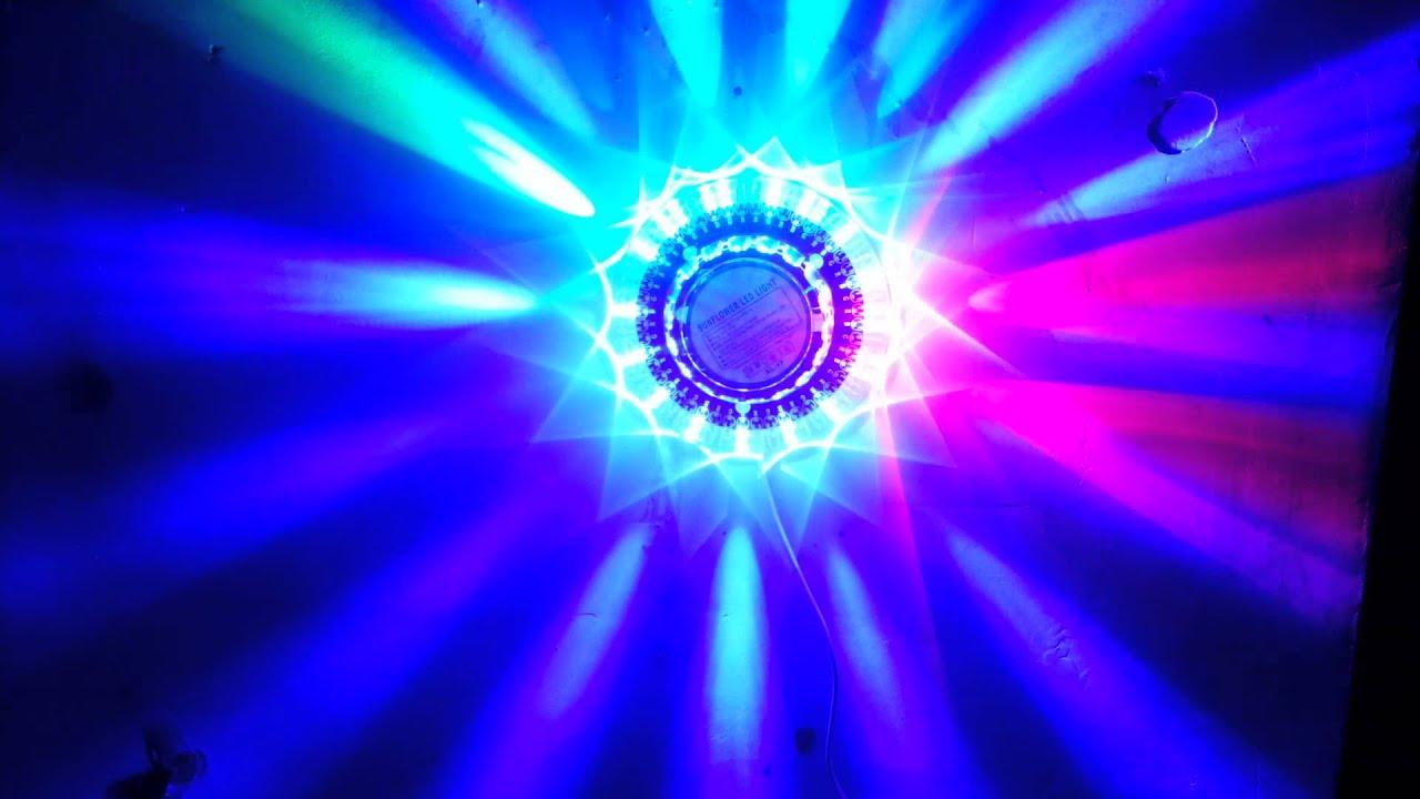 Police Car Lights Wallpaper Sunflower Led Light Party Club Bar Concert Item Sound
