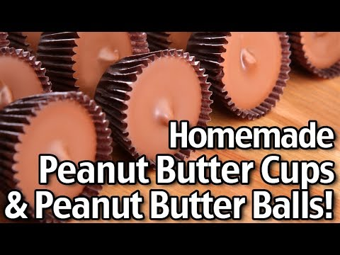 Homemade Peanut Butter Cups And Peanut Butter Balls! Easy Recipe Tastes Like Reese's!