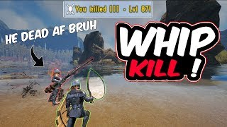 KILLED HIM WITH A WHIP !?!?! (feat. MattMan) | Ark Official PvP | Ark Survival Evolved