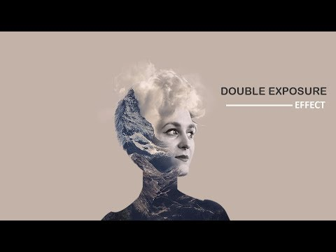 Double exposure effect in photoshop tutorial thumbnail