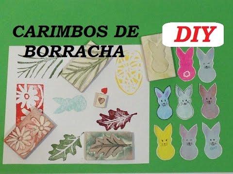 Carimbos de borracha, como fazer? - DIY - (rubber stamps) - VIDEO