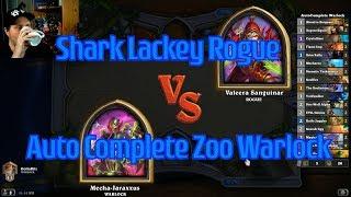 Auto-Complete Zoo Warlock vs Shark Lackey Rogue | Hearthstone