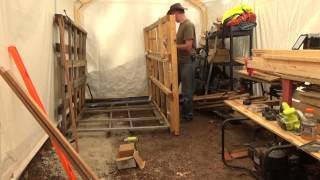 Building A Pallet Wood Storage Rack In My Off Grid Wood Shop