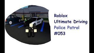 Roblox: Ultimate Driving | Police Patrol #053 | Two on a patrol! + new car! | [Huski/English]