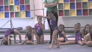 evolution of a gymnast 2 years old 5 years old