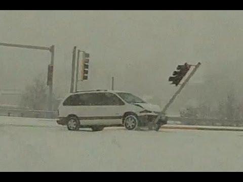 Cars Sliding On Ice