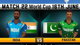 Live Prediction - 16th June India vs Pakistan 22nd ICC World cup match World championship WCC 2
