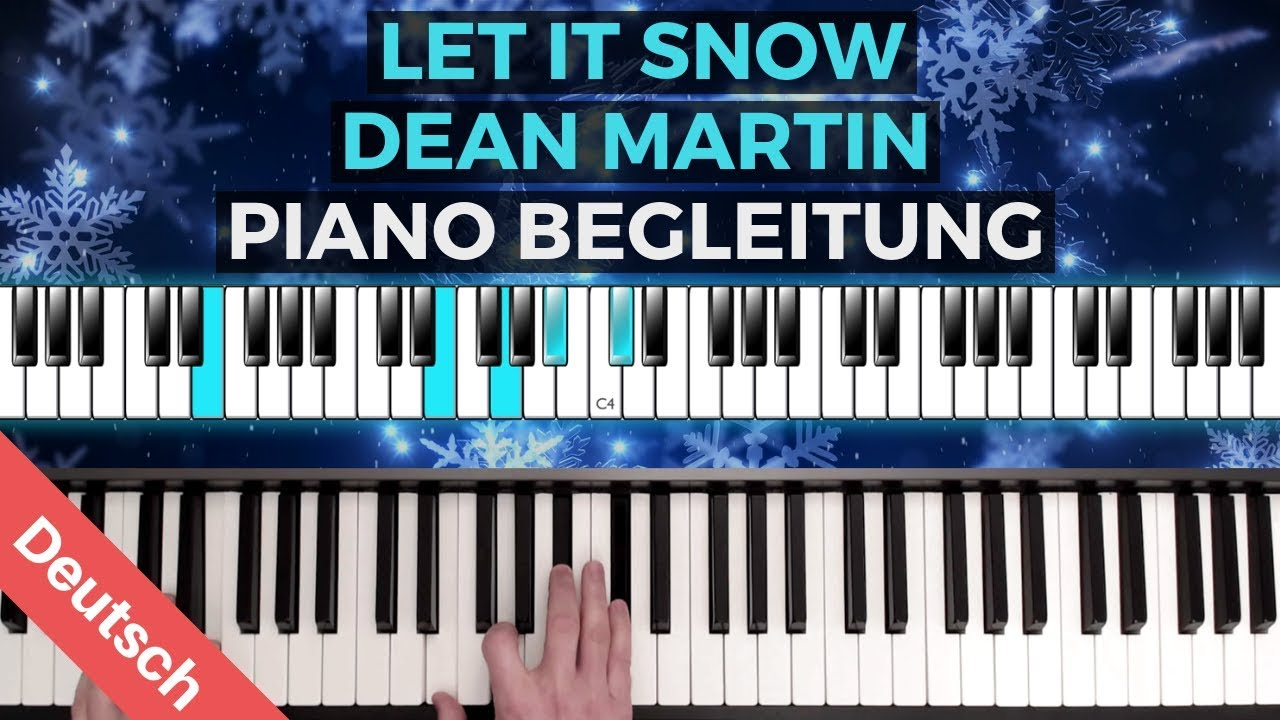 Dean Martin Let It Snow Piano Tutorial Liedbegleitung