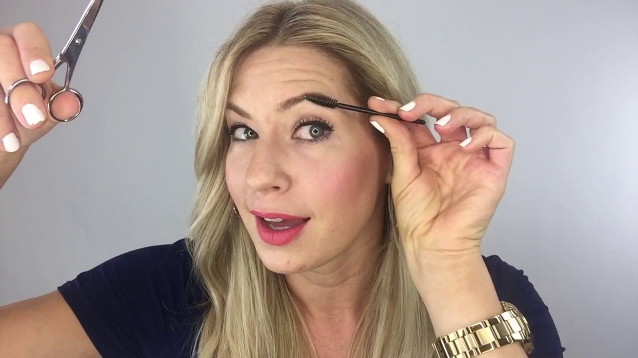 How To Trim Your Own Eyebrows Tutorial Youtube