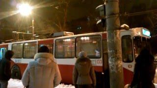 Троллейбус загорелся в центре Ижевска