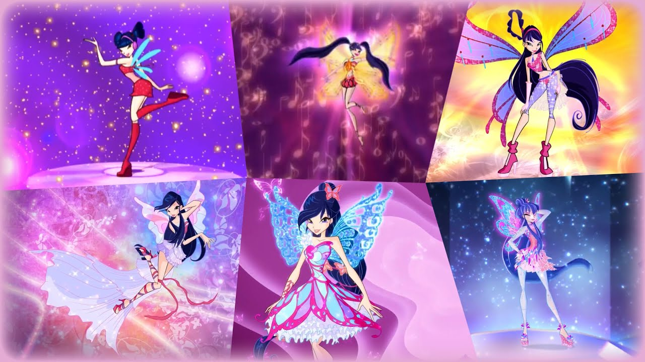 Winx Club - Musa All Full Transformations up to Tynix! HD ...