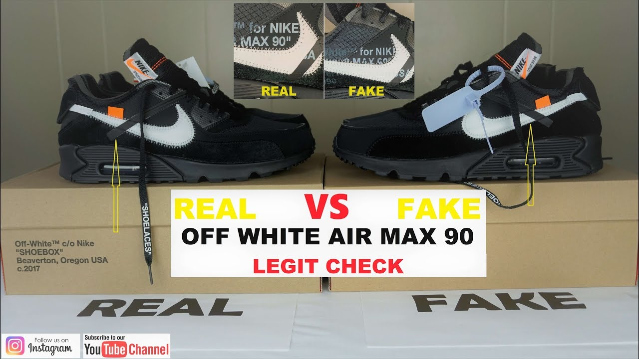 fake vs real nike air max 90