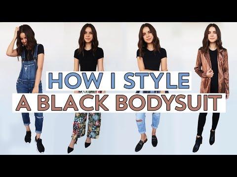 4 Ways to Style a Black Bodysuit  Ingrid Nilsen