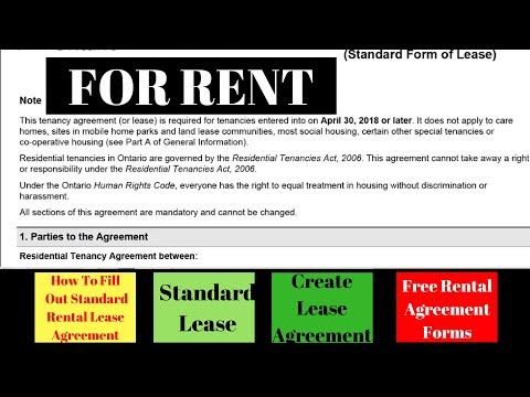 How To Fill Out Standard Rental Lease Agreement | Standard Lease | Create Lease Agreement | For Rent