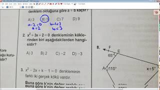 AÖL Aralık 2019 Matematik 4 Soruları Ve Açıklamalı Çözümleri