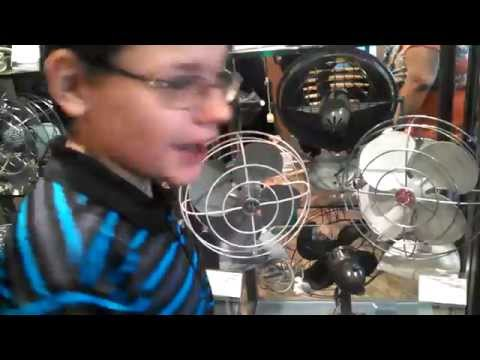 Fanimation Group Trip Fall 2015: Downstairs Antique Fan Museum