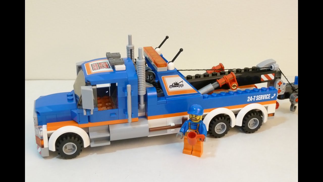 Rob A Reviews LEGO City 2014 60056 Tow Truck  YouTube