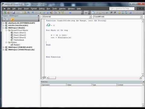 VBA Excel CountIf Function in VBA Code - YouTube
