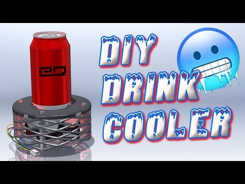 How To Build A Glowing Peltier Drink Cooler!