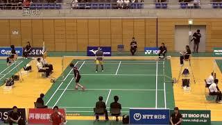 男子シングルス17位決定戦 小倉由嵩vs山下恭平