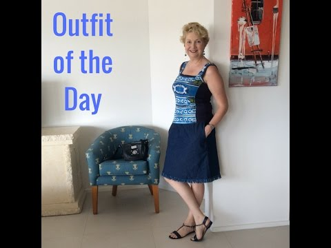 Outfit of the Day - Casual Sunday Style - Denim skirt & top - Queensland style