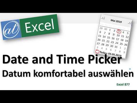 Date And Time Picker - Excel - Datum Komfortabel Auswählen