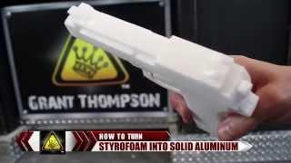 Как сделать Пистолет и Меч из расплавленного алюминия