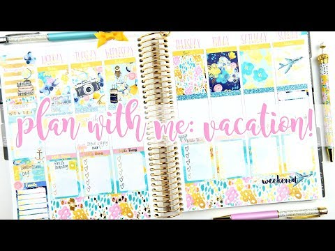 Chatty Plan with Me: Vacation Week!