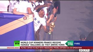 'Incredible sense of unity': World Cup winners France receive heroes' welcome in Paris