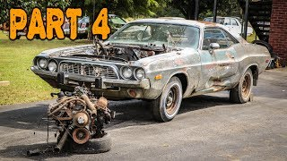 ABANDONED Dodge Challenger Rescued After 35 Years Part 4: Old Engine Teardown