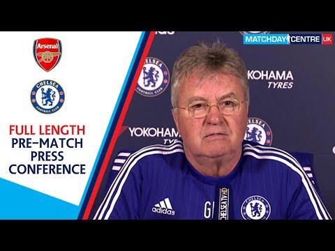 Arsenal vs Chelsea : Guus Hiddink Press Conference