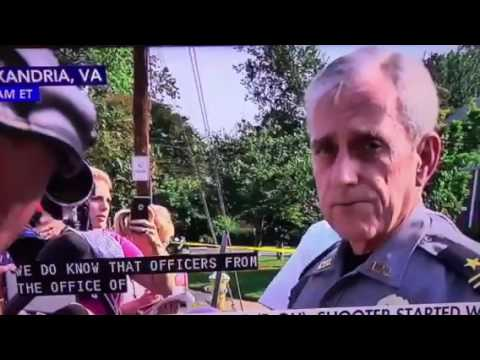Alexandria chief gives a presser on shooting of Republicans