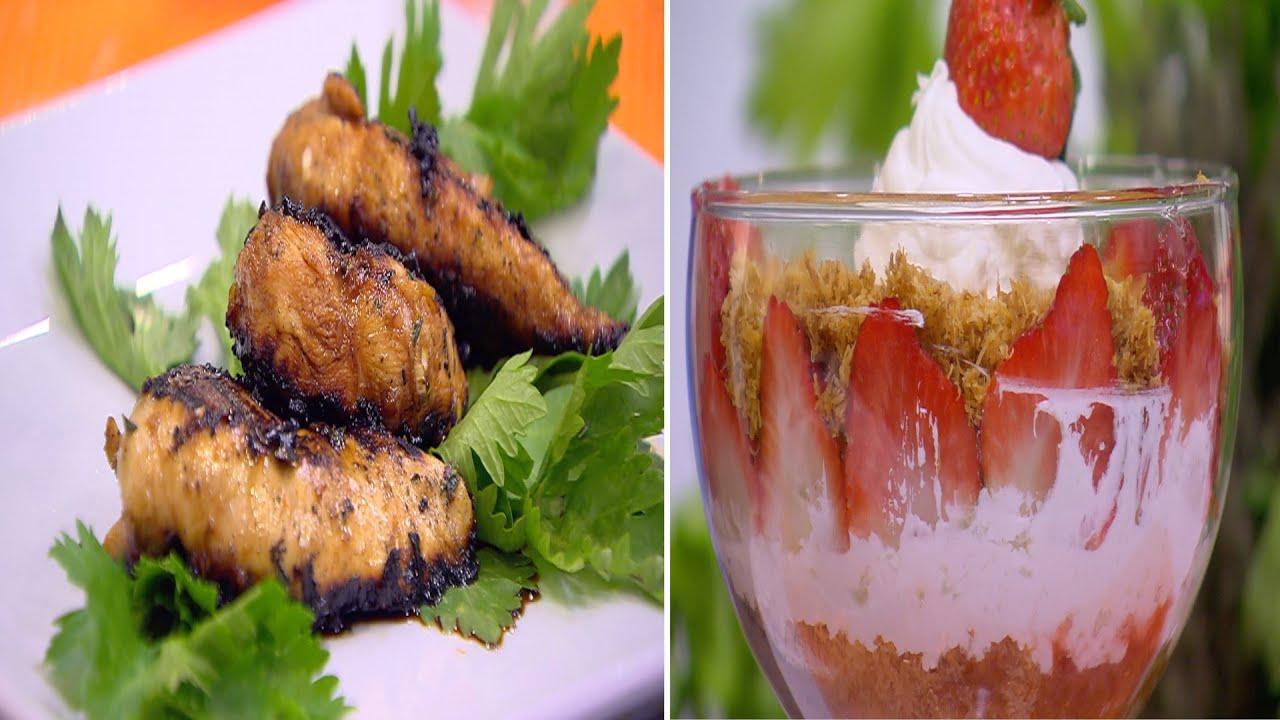 كنافة بالفراولة - دجاج أو لحمة مشوية بدبس الرمان : أميره في المطبخ حلقة كاملة