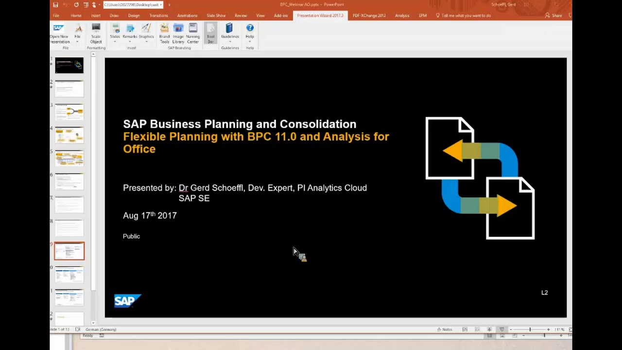 BPC Optimized for S/4HANA Overview by Sreekanth Surampally