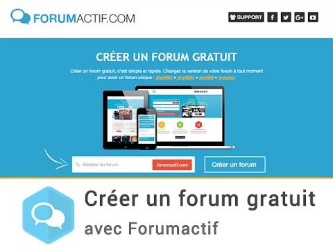 cr er un forum gratuit avec forumactif youtube. Black Bedroom Furniture Sets. Home Design Ideas
