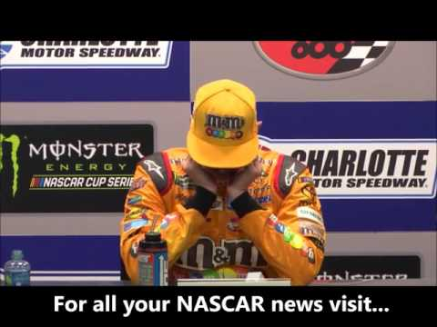 NASCAR at Charlotte Motor Speedway, May 2017: Kyle Busch post race