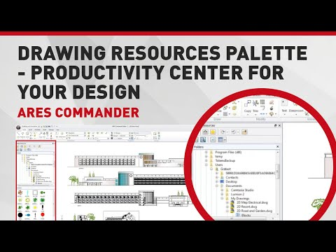Drawing Resources Palette -  Productivity Center for your Design   ARES Commander Edition 2014