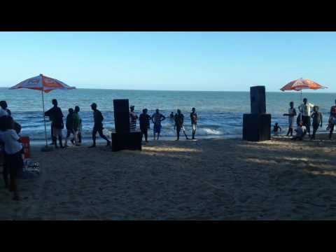 Mozambique dance style at Maputo beach