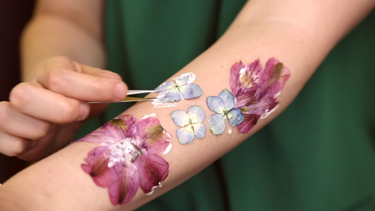 How to Make Dried Flower Tattoos - YouTube